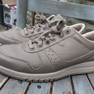 Women's Rockport Taupe Beige Leather Sneakers 9M